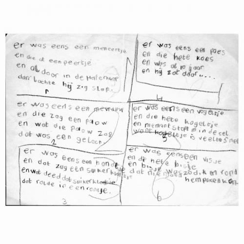Eerste gedichtjes, 6 jaar
